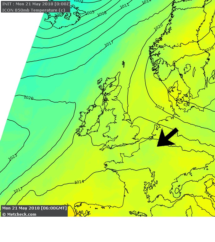 Latest Detailed Metcheck Weather Forecast for 21 May 2018 for KY3