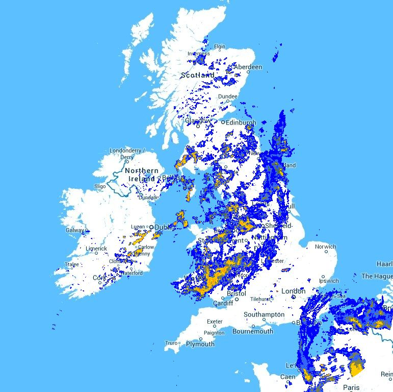 Metcheck com - UK Latest Zoomable Radar - Updated every 5